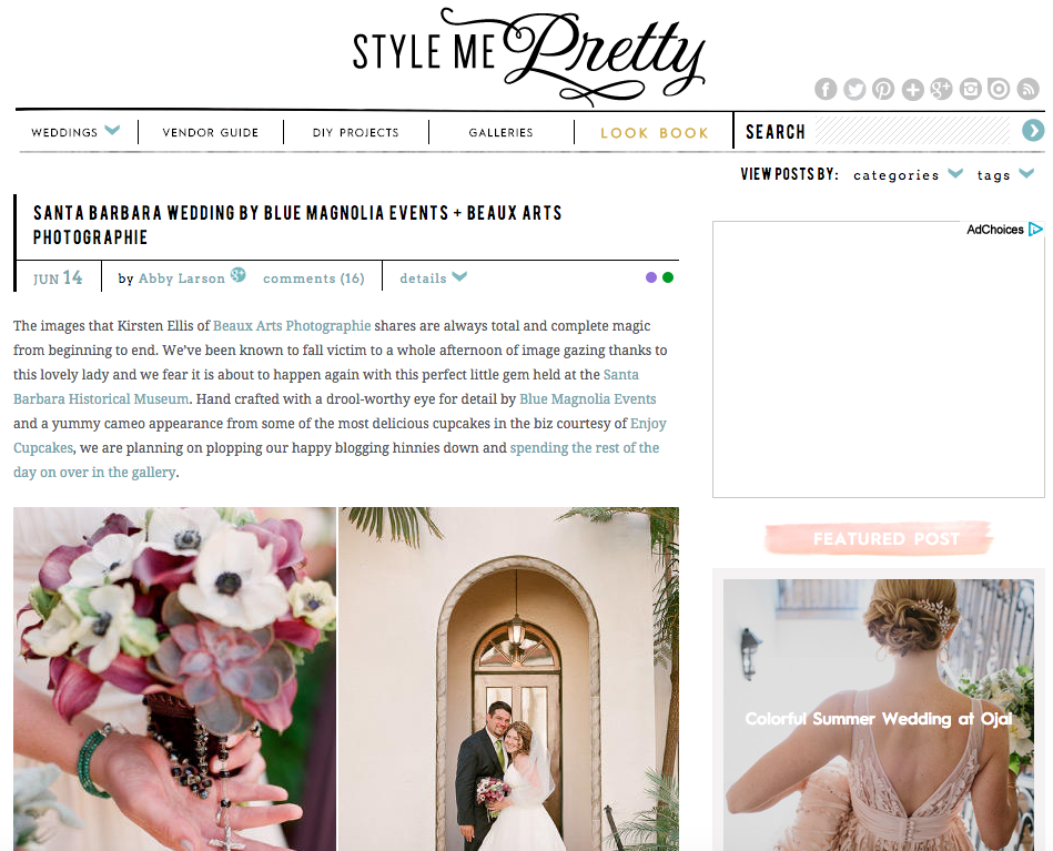 Style Me Pretty – SANTA BARBARA WEDDING